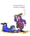 Cartoon: Contre Violence (small) by Karsten tagged violence,police,delinquance,demonstration,protester