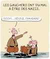 Cartoon: Droite et Gauche... (small) by Karsten tagged politique,extremisme,fascisme,europe,elections,nazis