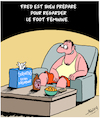 Cartoon: Foot Feminine (small) by Karsten tagged football,champions,du,monde,france,medias,femmes,hommes