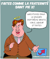 Cartoon: Fraternite Saint Pie X (small) by Karsten tagged politiques,extreme,droites,religion,fraude,fiscal,allemagne,afd,europe,criminalite