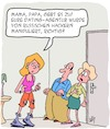 Cartoon: Gebt es zu! (small) by Karsten Schley tagged dating,computerhacker,russland,familien,jugend,eltern,generationskonflikt,erziehung,technik,gesellschaft