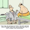 Cartoon: Headaches (small) by Karsten tagged health,food,nutrition,patients,doctors,obesity,overweight