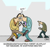 Cartoon: Helmpflicht (small) by Karsten tagged politik,politiker,gesundheit,smartphones,technik