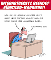 Cartoon: Internetgesetz (small) by Karsten tagged internet,copyright,kriminalität,diebstahl,facebook,youtube,computer,technik,kunst,künstler,gesellschaft,gesetze,justiz