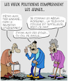 Cartoon: Les Jeunes (small) by Karsten tagged politiciens,les,jeunes,arrogance,conflits,elections,europe