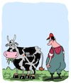 Cartoon: Meuuuuh! (small) by Karsten tagged agriculture,animaux,vaches,agriculteurs,elevage
