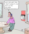 Cartoon: No Time (small) by Karsten tagged parents,families,old,age,time,appointments,mothers,sons,social,issues