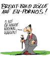 Cartoon: Nochmal! (small) by Karsten tagged brexit,uk,europa,politik,eu,verhandlungen,wirtschaft,märkte,business,zölle,import,export
