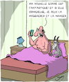 Cartoon: Nouvelle Copine (small) by Karsten tagged amour,copines,manger,hommes,femmes,relations,amoureuses,humeurs