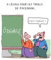 Cartoon: Orthographe (small) by Karsten tagged facebook,commentaires,haineux,medias,sociaux,internet,technologie,orthographe,education