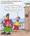 Cartoon: Pirates (small) by Karsten tagged cyclopes,mythologie,legendes,histoire,pirates,marine