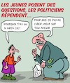Cartoon: Questions... (small) by Karsten tagged politiciens,jeunes,future,industrie,elections,nature,environnement