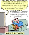 Cartoon: Rage (small) by Karsten tagged politique,allemagne,rage,logique,medias,facebook,education,extremisme