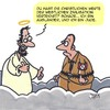 Cartoon: Schade eigentlich... (small) by Karsten tagged religion,christentum,judentum,bibel,himmel,politik,nazis,jesus