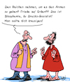 Cartoon: Sozialist (small) by Karsten tagged blasphemie,kirche,religion,priester,armut,jesus,reichtum,umverteilung,soziales,gesellschaft