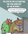 Cartoon: The Inventor (small) by Karsten tagged internet,technology,computers,communication,cats,history,science,research