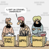 Cartoon: Tres Dangereux! (small) by Karsten tagged economie,commerce,religion,armes,drogues,jihad,humour,liberte,de,la,presse