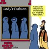 Cartoon: Was zum Anziehen (small) by Karsten tagged religion,muslime,islam,frauen,mode,damenmode