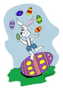 Cartoon: Egg Juggler (small) by Brian Ponshock tagged easter,eggs,juggling,bunny