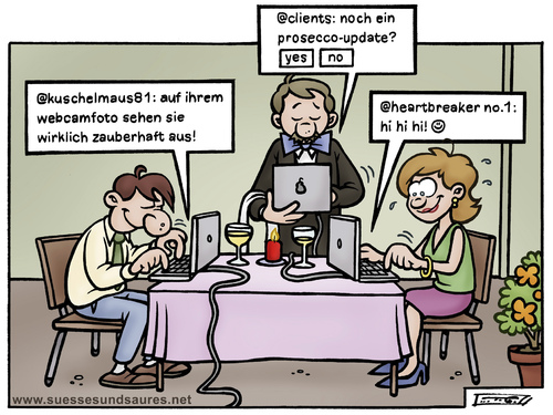 Cartoon: onlinedating (medium) by Steffen Gumpert tagged chat,flirt,date,online,dating,liebe,frau,mann,computer,computer,liebe,dating,online,date,flirt,chat,rechner,web,internet,kommunikation,technologie,fortschritt,partnersuche,online dating,beziehung