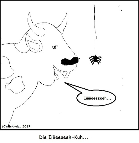 Cartoon: Die Ieeeeh-Kuh (medium) by Amokkritzler tagged kuh,wortspiel