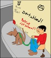 Cartoon: Ohne Worte (small) by Amokkritzler tagged gassi,kot,kacken,mann,hund