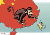 Cartoon: Year of the Monkey in Taiwan (small) by rodrigo tagged taiwan,china,elections,independence,democracy,freedom,tsai,ing,wen,president