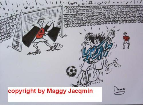 Cartoon: Soccer 2 (medium) by Mag tagged sports,media,culture,humour,philosophy,cartoon