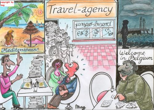 Cartoon: Tourism (medium) by Mag tagged coast,culture,media,business,philosophy