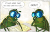 Cartoon: Dung flies (small) by Yavou tagged dung,flies,crap,nutrition,yavou,insects,cartoon