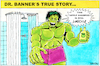 Cartoon: Hulk (small) by Yavou tagged the,incredible,hulk,yavou,cartoon,hommage,marvel,dr,banner,apple,shampoo,angry