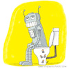 Cartoon: Roboter (small) by ichglaubeshackt tagged roboter klo klowitz toilette batterie