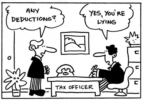 Cartoon: tax (medium) by Flantoons tagged accounts,accountant,business,office,boss,manager,money,finance,profit,staff,employ,computer,it,pc,internet