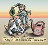 Cartoon: Geh Kiwis streicheln! (small) by KritzelJo tagged einlauf,angela,merkel,michel,soffin,kalte,progression,giesskanne