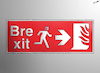 Cartoon: Brexit Sign (small) by cartoonistzach tagged brexit,uk,britain,politics,eu,fire,exit,sign,european,union,boris