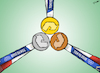 Cartoon: Recycled Olympic Medals (small) by cartoonistzach tagged sports,olympics,tokyo,japan,2020,medal,electronics,ewaste,environment,recycle