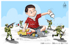 Cartoon: Palestinian 3 year old boy (small) by Mikail Ciftci tagged palestine,israel,jarussalem,mikailciftci,catoon,politican