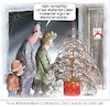 Cartoon: Klimaschutz-Weihnachtsbaum (small) by Ritter-Karikaturen tagged ritterkarikatur