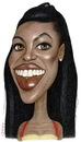 Cartoon: Naomi Campbell (small) by Gero tagged caricature