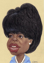 Cartoon: Oprah Winfrey (small) by Gero tagged caricature