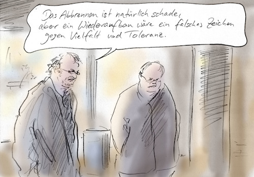 Cartoon: Baldige Stimme (medium) by Bernd Zeller tagged notre,dame