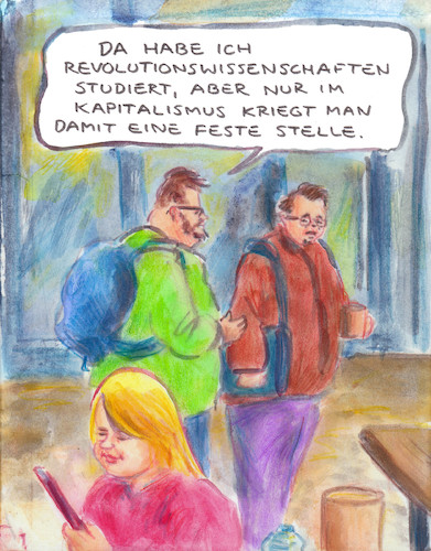 Cartoon: Berufsakademiker (medium) by Bernd Zeller tagged uni