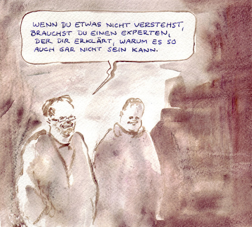 Cartoon: Expertisebedarf (medium) by Bernd Zeller tagged korruption