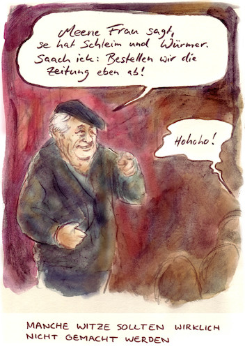 Cartoon: Ganz schlechtes Kabarett (medium) by Bernd Zeller tagged humor