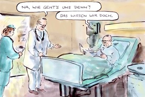 Cartoon: Gut wie nie (medium) by Bernd Zeller tagged wahlkampf