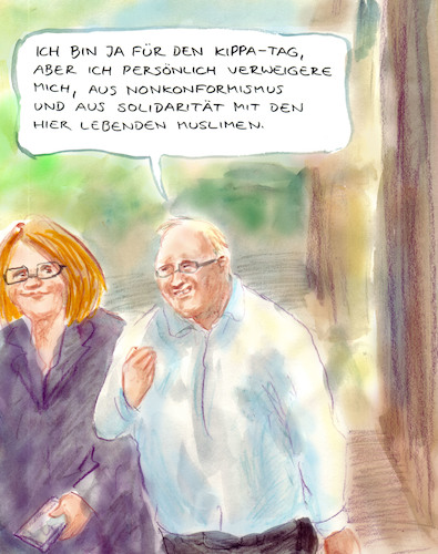 Cartoon: Mutig (medium) by Bernd Zeller tagged mut