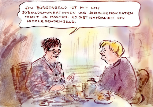Cartoon: Reformvorschlag (medium) by Bernd Zeller tagged spd