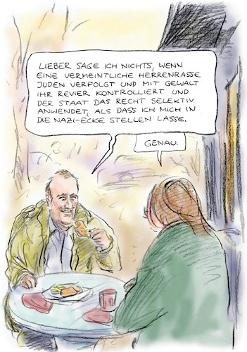 Cartoon: Sichere Seite (medium) by Bernd Zeller tagged staat