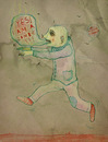 Cartoon: Flying Zombie (small) by VLADIMIR tagged zombie cartoon