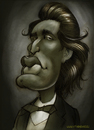 Cartoon: EMINESCU (small) by Nenad Vitas tagged romania